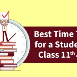 study timetable for class 11 & 12.